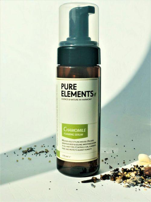 Pure Elements Putojantis ramunėlių serumas plaukams Chamomile Foaming Serum