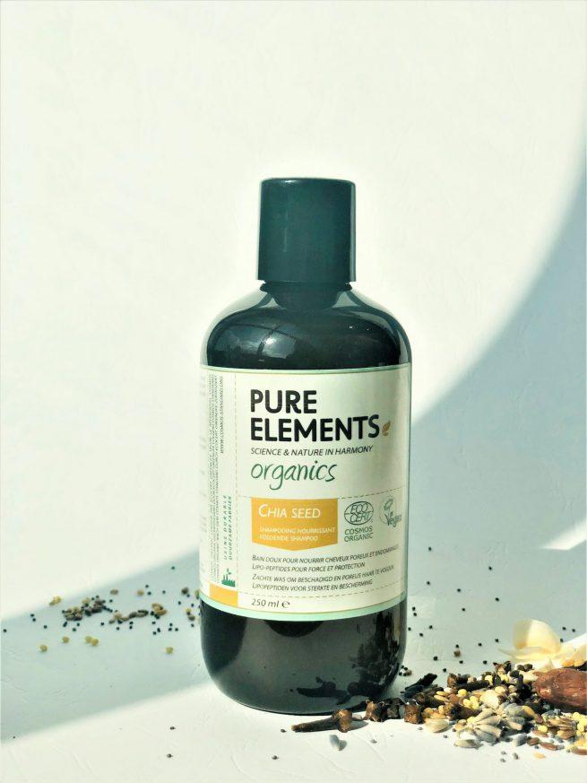Pure Elements Organics CHIA SEED Nourishing plaukus maitinantis ŠALAVIJO SĖKLŲ šampūnas