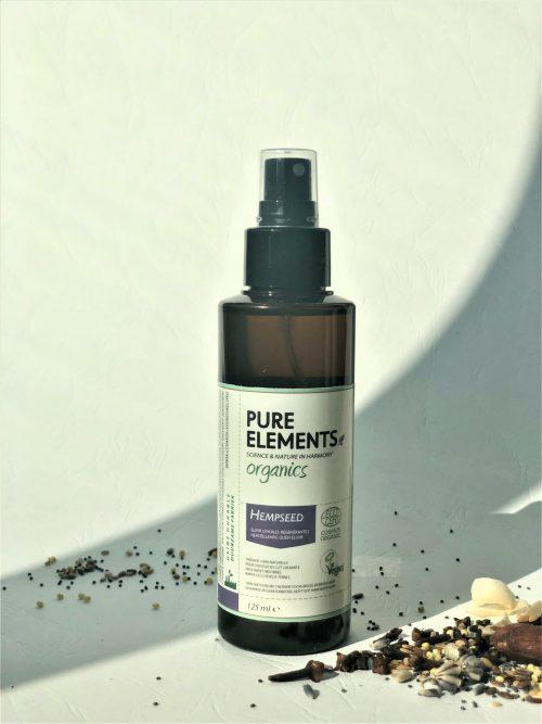 Pure Elements Organics HEMPSEED Regenerating plaukus atstatantis KANAPIŲ SĖKLŲ eliksyras