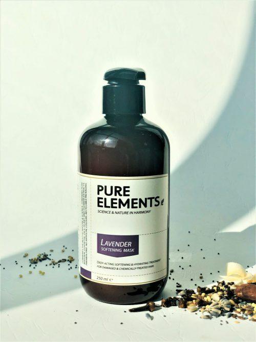 Pure Elements Lavender Softening Mask švelnumo plaukams suteikianti levandų kaukė