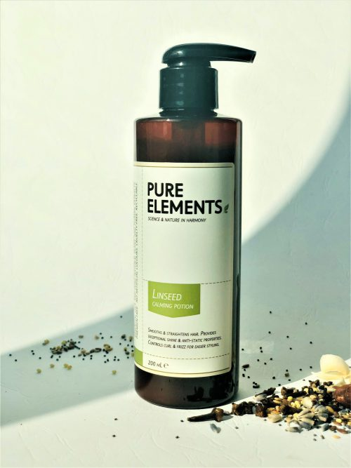 Pure Elements plaukus raminanti sėmenų emulsija Linseed Calming Potion