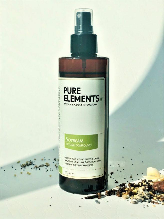 Pure Elements Soybean Styling Compound purškiama sojų želė plaukams