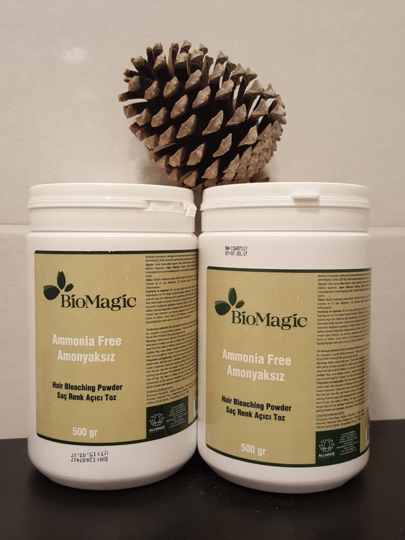 biomagic plaukų šviesinimo milteliai